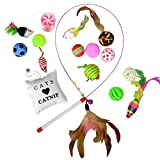 Downtown Pet Supply Best Value Cat Toys Variety Bundle Set with Wand, Balls, Mouses, Catnip, 16 or 35 Fun Interactive Cat Toys (16 PK)