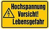 Aufkleber Nicht schalten! Gefahr vorhanden! VDE 0105 B 200x300mm