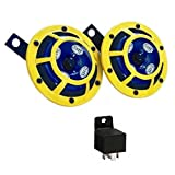 #2: Hella Yellow Panther Car Horn (Pair) With, Relay For Toyota Etios