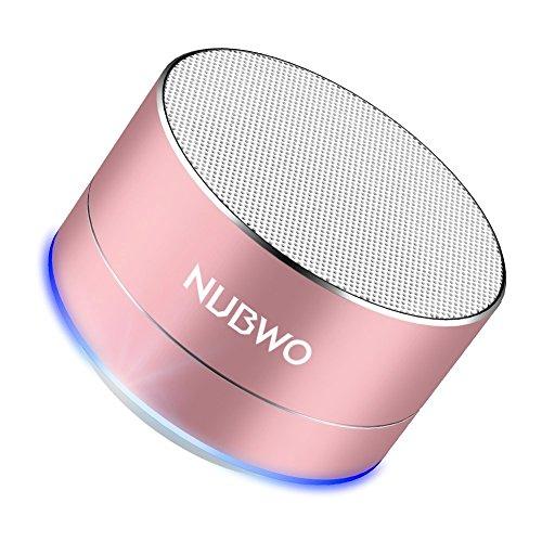 Bluetooth Lautsprecher, NUBWO A2 Tragbarer Bluetooth Outdoor-Lautsprecher, kabelloser Lautsprecher mit verbesserter Bass und Freisprechen- Rose Gold