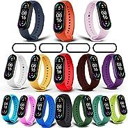 Milomdoi [19 unità] 15 Colori Cinturino + 4 Pezzi Pet Pellicola Protettiva per Cinturino Xiaomi Mi Band 6/Mi B