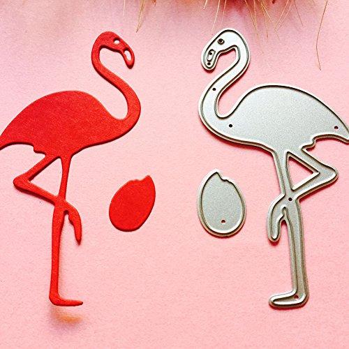 nieliangw0q Stanzschablone - Flamingo-Form DIY Stanzformen Schablone Scrapbooking Album Papier Karte Craft Tool