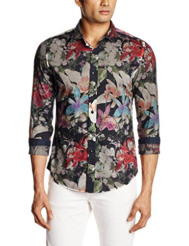 Replay da uomo Casual Floreale A Maniche Lunghe m4916 70964 Flowers Fantasy X-Large