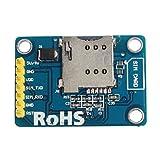 Sharplace SIM800L GPRS GSM Module Mikro Sim Core Board Quad Band Anschluss TTL für Arduino - Blau