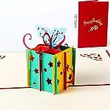 Biglietto Compleanno 3D Biglietto Auguri Natale Paper Spiritz Pop Up Biglietto d'Auguri Biglietto Auguri 3D