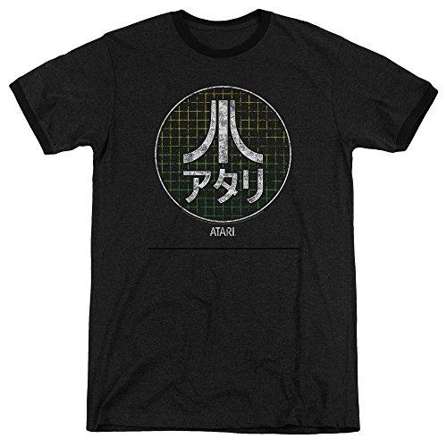 Japanische Logo T-shirt (Atari Konsolen-T-Shirt mit japanischen Buchstaben und Logo, für Erwachsene)