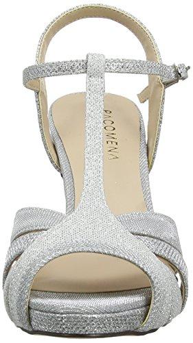 Paco Mena Dudar Damen T-Spangen Sandalen Silber (Silber)
