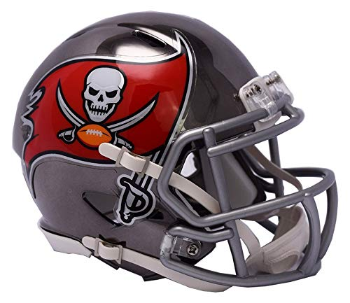 Riddell Mini Football Helm - NFL Chrome Tampa Bay Buccaneers -