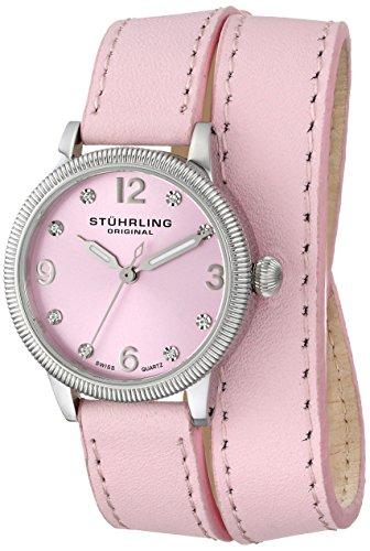 Stührling Original 646.01 - Reloj analógico para mujer, correa de cuero, color rosa