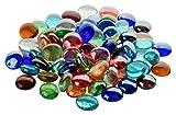 Fliesenhandel Fundus 1Kg Glasnuggets Premium Muggelsteine Bunt Mix 17-21mm ca. 200 Stück