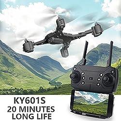 Fenghong Aviones con cámara HD 1080P, Drone Premium Profesional Plegable Altitud Hold Gimbal Estable Quadcopter