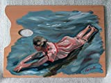 Best Disney Dad Gifts From Kids - Girl Bathing - Oil Painting on Genuine Artist's Review