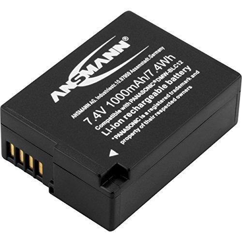 ANSMANN Kamera Akku DMW-BLC12 7,4V, 1000mAh - ideal für Panasonic Lumix G5, G5K, G5W, G5X, G70, GX8, GH2 / FZ62, FZ200, FZ300, FZ1000, FZ2000 uvm. -