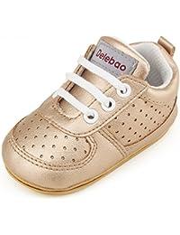 DELEBAO Chaussure Cuir Bébé Chaussures Premiers Pas Chaussure de Marche Bébé  ... 4eb7f3851ad3