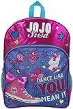 JoJo Siwa Bow Backpack Ruck Sack bolso de hombro Denim Large Pocket Print Pack Unicorn Bow y brillo Detalles Perfect School, Holiday o Dance Bag