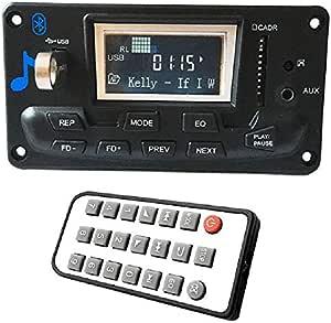 Sodial Lcd Auto Bluetooth 4 2 Mp3 Spieler Flac Ape Decoder Board Modul W Usb Fm Aux Radio Songtext Spectrum Mappe Anzeige Pw Speicher Kit Auto