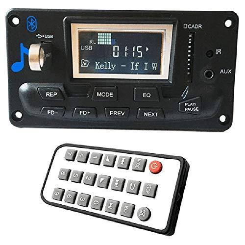 SODIAL LCD Auto Bluetooth 4,2 Mp3 Spieler Flac Ape Decoder Board Modul W.USB Fm Aux Radio Songtext Spectrum Mappe Anzeige Pw Speicher Kit (Radio Spectrum)
