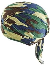 iBaste S Camouflage Pirate Hat Cool Respirant Mesh Hat Chapeau avec Longue  Queue Street Dance Cyclisme… b1007abc3dc