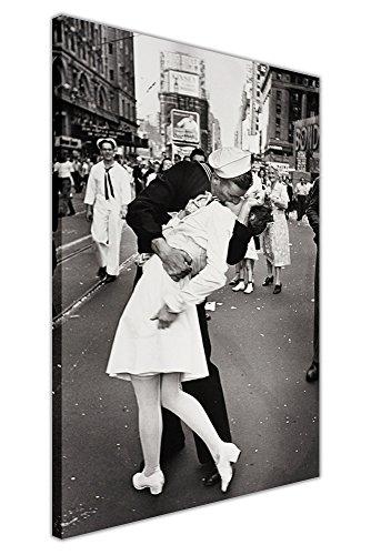 Nostalgie schwarz und weiß Leinwand Art Wand Prints Sailor Kissing Krankenschwester Times Square New York World War 2Bilder