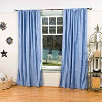 Caribbean Blue Velvet Curtains/Drapes/panels–109,2x 213,4cm