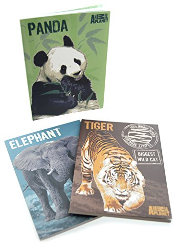 Animal Planet Paperwrap Juego de 3Mini Cuadernos–perfecto para amantes de los animales exóticos
