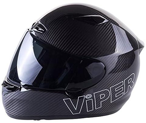 Viper Helmets A147 A147ALCL Full Face Helmet RS1010, L, Carbon