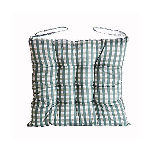 Zhi Jin doux carré Coussin de galettes de grille épais Coussins de Chaise avec attaches pour salle à manger Chaise de bureau Canapé