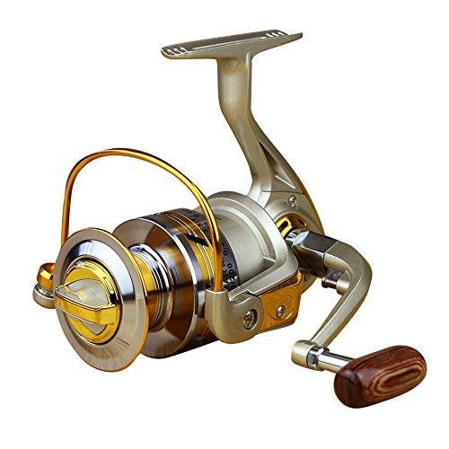 Carrete de pesca para embarcación y pesca en roca, rodamientos de bolas 12BB, relación de transmisión 5.2:1/5.5:1, carrete metálico para pesca de carpa,La manija se puede intercambiar a la izquierda ya la derecha