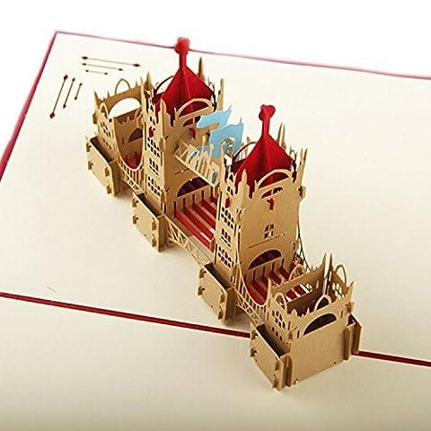 SUNNOW® NEW 3D POP UP Handmade Creative Hollow-out Customized London