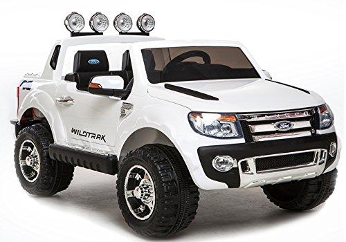 Elektro Kinderauto Elektrisch Ride On Kinderfahrzeug Elektroauto Fernbedienung - Ford Ranger - Weiß