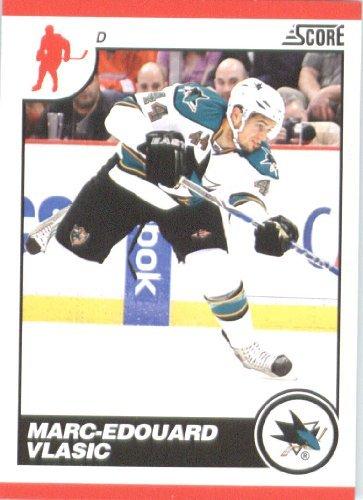 2010-11-score-hockey-card-404-marc-edouard-vlasic-san-jose-sharks