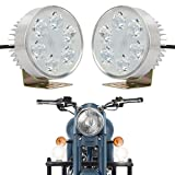 #9: Autofy Universal 6 LED Car/Motorcycle Fog Lights Auxillary Lights for All Car and Bikes (Set of 2, White)