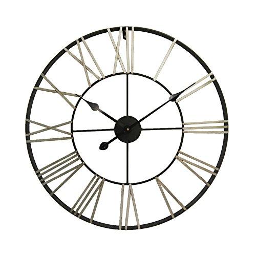 Mobili rebecca orologio decorativo orologi arredo metallo numeri romani rotondo Ø 60 cm (cod. re6139)
