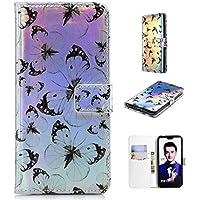 Nadoli Handytasche für Huawei Honor 10,PU Leder Klapphülle Laser Schwarz Schmetterling Muster Handyhülle Brieftasche... preisvergleich bei billige-tabletten.eu