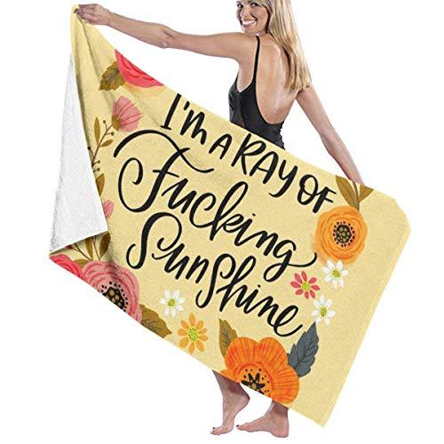Ziemlich swery, ich Bin EIN Strahl verdammten Sonnenscheins Badetuch Reisetücher für Sport, Reisen, Yoga, Schwimmen, Fitness Trocknendes Badetuch 80x130 cm - Sonnenschein Spa-bad
