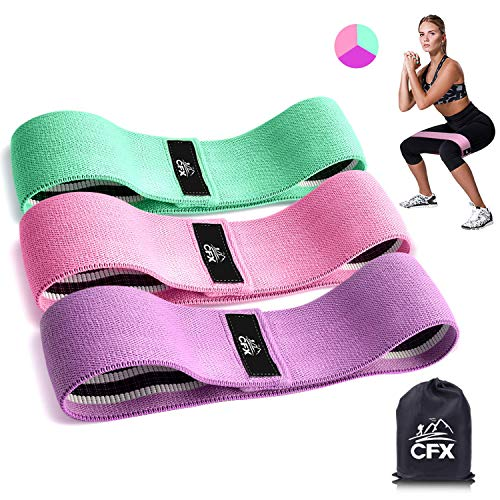 Bande Elastique Fitness - Bande de Resistance Set (3) - Équipement d'Exercices pour Musculation Pilates Squat Sport Crossfit Rééducation Physique et Motrice - Entrainement Corps, Jambes, Fessiers