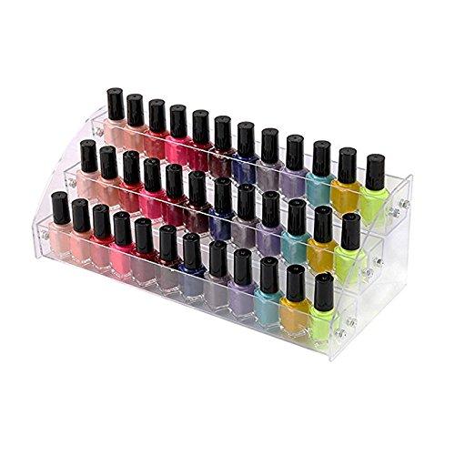 Clair Organiseur de vernis à ongles, vernis à ongles en acrylique support 356rangées Counter Display Rack Peut contenir jusqu'à 38–108bouteilles pour maison et stocker l'affichage, Acrylique, 3 Tiers, Small