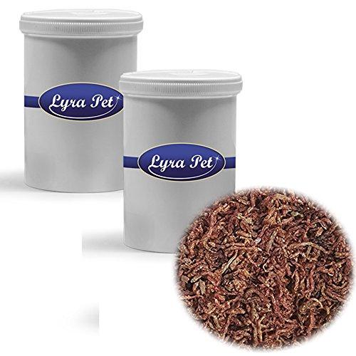 2 x 1 L rote Mückenlarven Lyra Pet Zierfischfutter getrocknetes Fischfutter