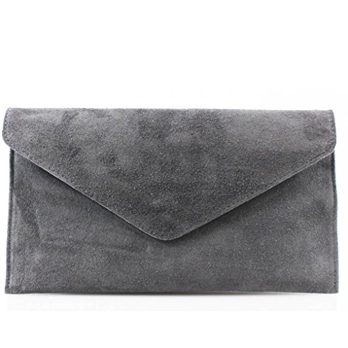 LeahWard Genuine Italian Suede Leather Envelope Clutch for sale  Delivered anywhere in Ireland