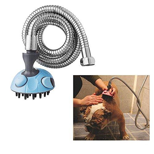 Pet Bad Spritze von Rechel, Dog & Cat Dusche multifunktionsmassagegerät Shampoo Handheld Spritze Bürste Fellpflege Maut mit Edelstahl Schlauch für innen- und außenbereich geeignet
