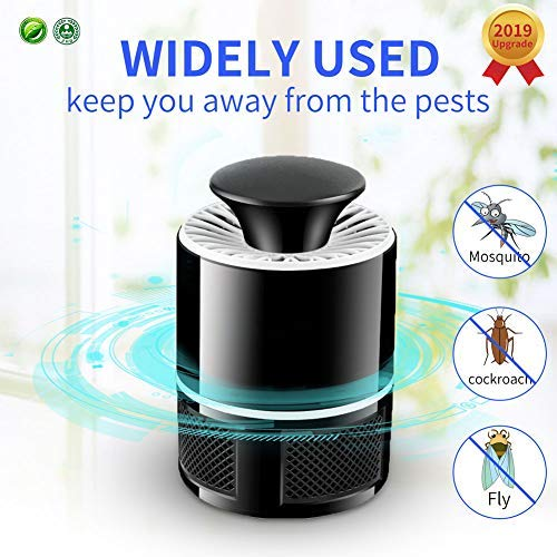 T-Raputa Lumière ultraviolette Lampe Moustique, lumière de Capture d'insectes, Mini-insectifuge pour moustiques/Mouches/Petits moustiques Volants