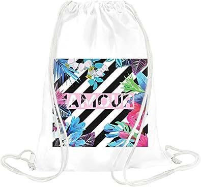 Amour Print Drawstring bag