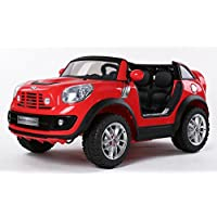 Duplay Mini Cooper Beachcomber 2 Seater XL Version- Licensed 12v Kids Electric Ride On Car with Parental Remote Control and MP3 Plug-In