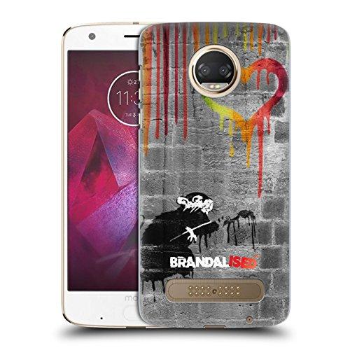 Preisvergleich Produktbild Offizielle Brandalised Liebe Ratte Banksy Kunst Farbtropfen Ruckseite Hülle für Motorola Moto Z2 Play