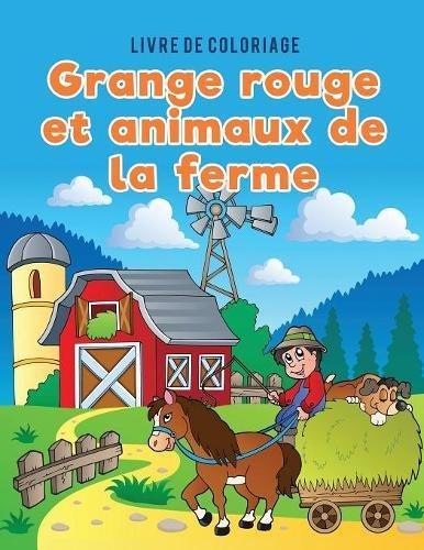 Livre de coloriage grange rouge et animaux de la ferme