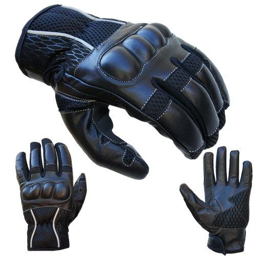 Motorradhandschuhe Sommer PROANTI® Motorrad Handschuhe kurz ( Gr. L )