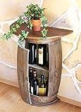 DanDiBo Wandtisch Tisch Weinregal Weinfass 0373-R Braun Schrank Fass aus