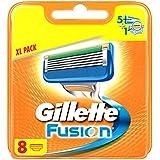 """Gillette - Fusion - Lames de Rasoir Pour Homme - 8Recharges - Emballage """"Déballer sans s'énerver"""""""