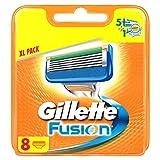 Gillette Fusion - Recambio de maquinilla de afeitar para hombre (8 recambios)