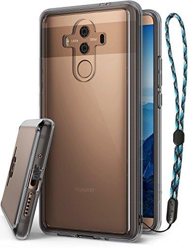 Ringke Huawei Mate 10 Pro Hülle, Mate 10 Pro Schutzhülle, Fusion Kristall PC TPU Dämpfer (Fall Geschützt/Schock Absorbtions-Technologie) für Das Huawei Mate 10 Pro Handyhülle Case Cover - Smoke Black